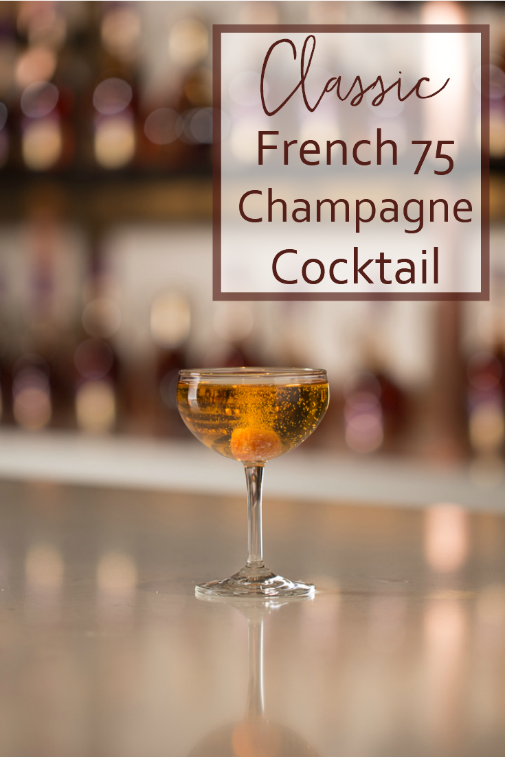 A French 75 cocktail is a classic that not many people know about. Made with cognac and champagne, it's really elegant, but oh so easy to make.