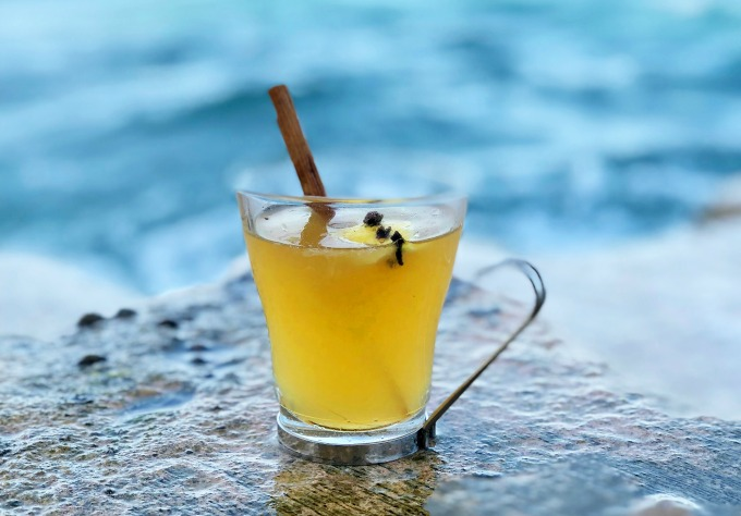 Try this delicious herbal take on the traditional Hot Toddy cocktail. It's a delicious drink recipe that is oh so easy to make.