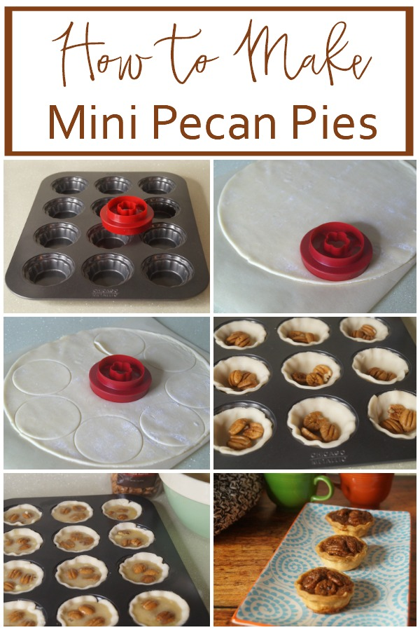 easy step by step instructions on how to make mini pecan pies or tartlets