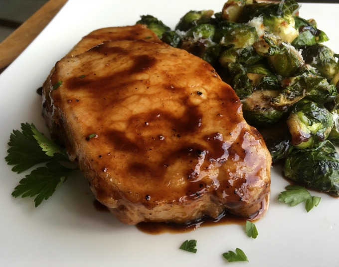 Quick and easy 20 minute Maple Balsamic Pork Chop Recipe
