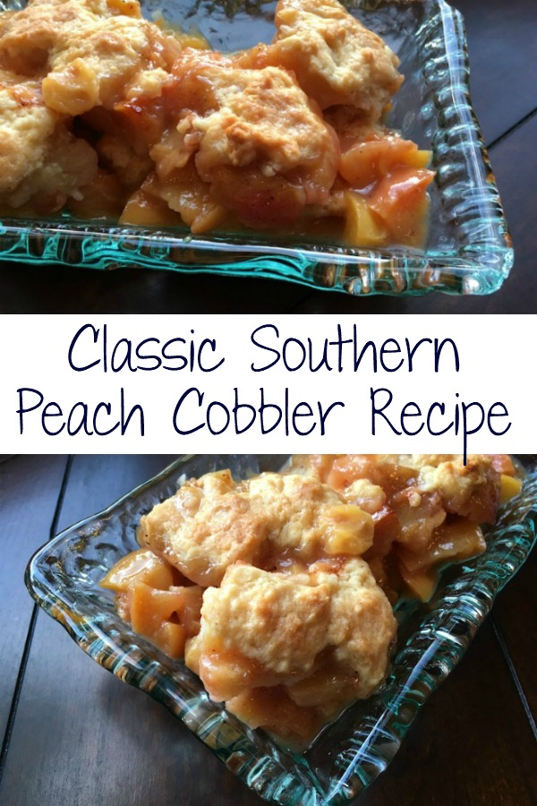 Classic peach cobbler recipe | Dessert | Crumble | Fresh peaches | Spiced Peach | Southern